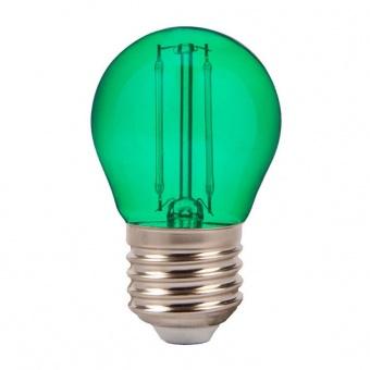 led лампа 2w, e27, зелена светлина, g45 bulb, 60lm, 7411