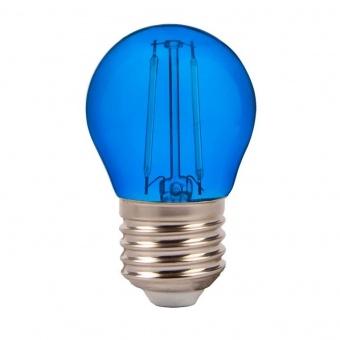 led лампа 2w, e27, синя светлина, g45 bulb, 60lm, 7412