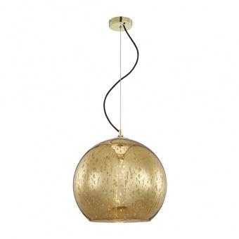 стъклен пендел, gold, luxera, mercury, 1x60w, 46077