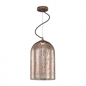 стъклен пендел, copper, luxera, mercury, 1x60w, 46075