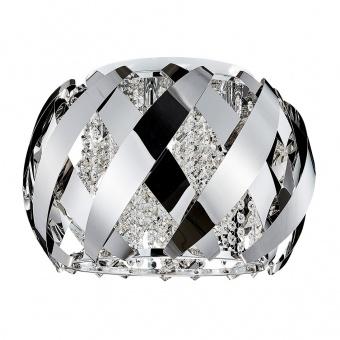 кристален плафон, mirror stainless steel, luxera, stratoss, 6x33w, 46068