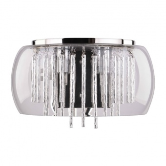 кристален аплик, chrome, luxera, medusa, 2x33w, 46059