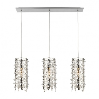 кристален полилей, mirror stainless steel, luxera, vitra, 3x40w, 64366