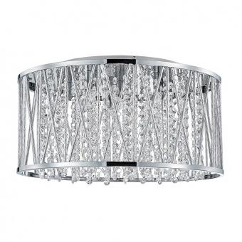 кристален плафон, aluminium, luxera, stixx, 6x33w, 46061