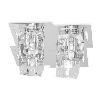 кристален плафон, chrome, luxera, floyd, 4x33w, 69055