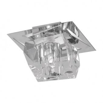 кристален плафон, chrome, luxera, floyd, 1x33w, 69056