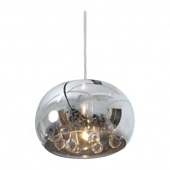 стъклен пендел, chrome, luxera, sphera, 1x33w, 46057