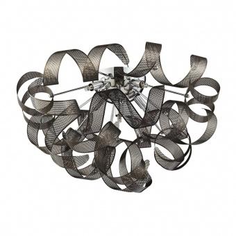 метален плафон, chrome, luxera, ribbonet, 5x33w, 64377