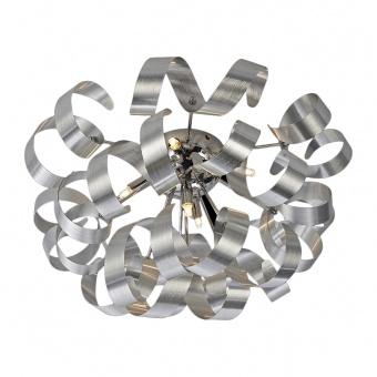 метален плафон, matt alminium, luxera, ribbon, 5x33w, 64360