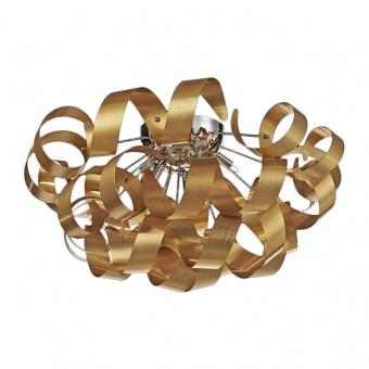 метален плафон, matt gold, luxera, ribbon, 5x33w, 64362