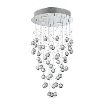 кристален полилей, chrome, luxera, norr, 4x50w, 62411