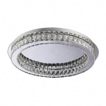 кристален плафон, chrome, luxera, movida, led 1x24w, 3000k, 1920lm, 62401