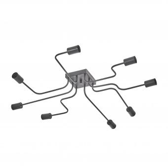 метален полилей, черен, elbulgaria, 8x40w, 1396-72-58