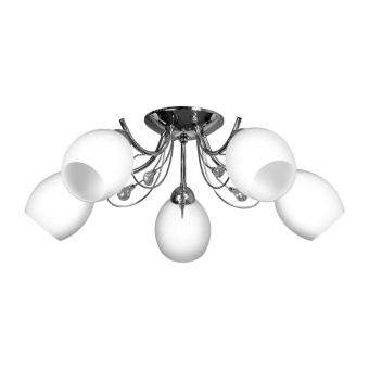 стъклен полилей, chrome/white, prezent, brio, 5x60, 75358
