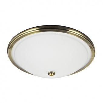 стъклен плафон, gold brass/white, prezent, viola, 2x40, 75352
