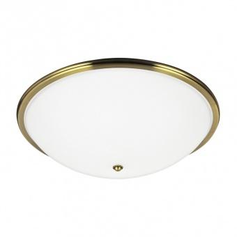 стъклен плафон, gold brass/white, prezent, viola, 3x40, 75354
