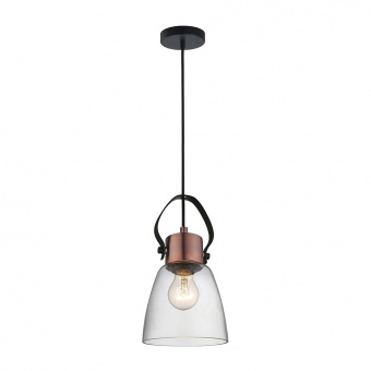 стъклен пендел, copper/black, prezent, novara, 1x60, 46080