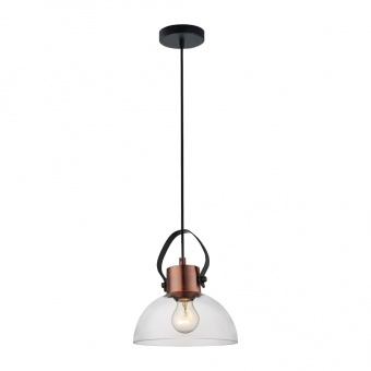 стъклен пендел, copper/black, prezent, novara, 1x60, 46082