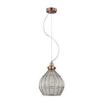 стъклен пендел, copper, prezent, perugia, 1x60, 46085