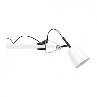 метална настолна лампа, matt white, faro, studio, 1x15w, 51135