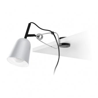 метална настолна лампа, grey, faro, studio, 1x15w, 51136