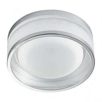 pvc луна, chrome/clear, prezent, elegant acriylic fix, led 1x5w, 4000k, 71102