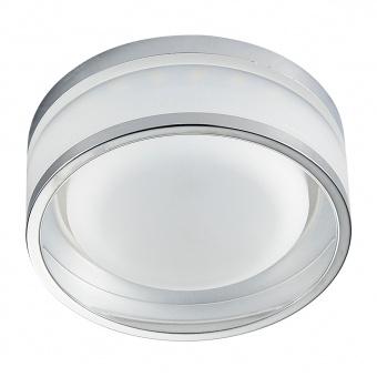pvc луна, chrome/clear, prezent, elegant acriylic fix, led 1x7w, 4000k, 840lm, 71103