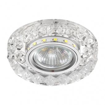 кристална луна, chrome/clear, prezent, elegant double light, led 1x0.2w+1x50w, 71074