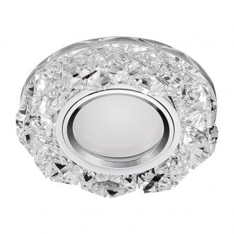 кристална луна, chrome/clear, prezent, elegant double light, led 1x3w+1x50w, 71094