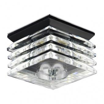 стъклена луна, chrome/black, prezent, elegant glass fix, 1x33w, 71065