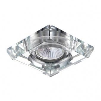 стъклена луна, chrome/clear, prezent, elegant glass fix, 1x50w, 71070