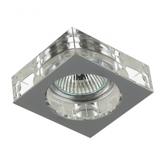 кристална луна, chrome/clear, prezent, elegant glass fix, 1x50w, 71008