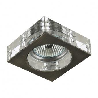 кристална луна, nickel satin/clear, prezent, elegant glass fix, 1x50w, 71009