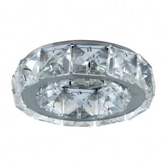 кристална луна, chrome/clear, prezent, crystal fix, 1x50w, 71055