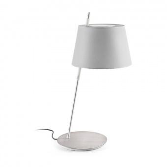 текстилна настолна лампа, grey, faro, tango, 1x40w, dt00065g