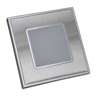 pvc мебелна луна, stainless steel/satin, prezent, step light, led 1x1w, 4000k, 60lm, 48303