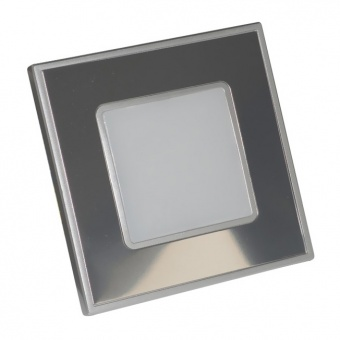 pvc мебелна луна, stainless steel/mirror, prezent, step light, led 1x1w, 4000k, 60lm, 48304