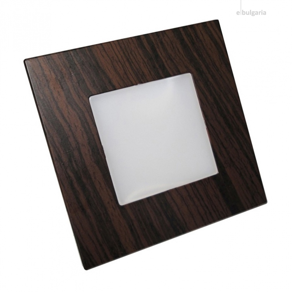 pvc мебелна луна, dark wood, prezent, step light, led 1x1w, 4000k, 60lm, 48306