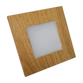 pvc мебелна луна, light wood, prezent, step light, led 1x1w, 4000k, 60lm, 48307