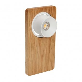 метален спот, oak wood, linealight, beebo_w, led 1x5w, 3000k, 605lm, 7974