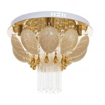 кристален плафон, злато, elbulgaria, 5x40w, elp 925/400 gd
