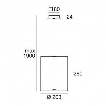 метален пендел, brown/mesh, linealight, thank you_p, 1x57w, 8064