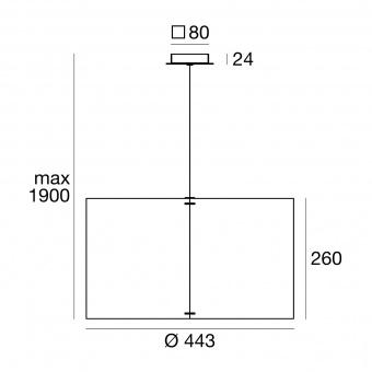 метален пендел, brown/ash wood, linealight, thank you_p, 1x57w, 8067