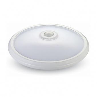 led pvc плафон, със сензор, бял, 12w, 4000k, 800lm, бяла светлина, 5058