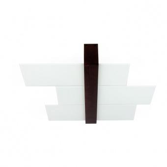 стъклен плафон, white/walnut wood, linealight, triad_s, 2x57w, 90230