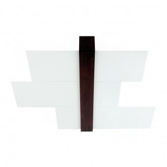стъклен плафон, white/walnut wood, linealight, triad_s, 3x57w, 90231