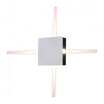 метален  аплик, квадрат, white, 4w, 3000k, 440lm, 8209