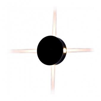 метален  аплик, кръг, black, 4w, 4000k, 440lm, 8216