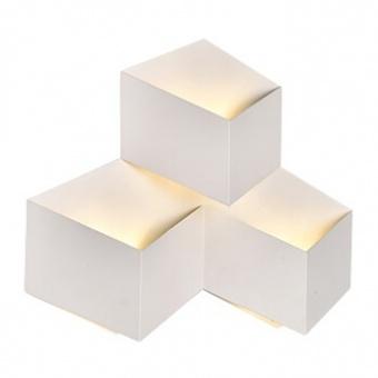 метален  аплик, white, тройна, 9w, 4000k, 990lm, 8222
