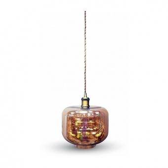 стъклен пендел, amber glass, 1x40w, 3740